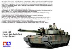 TAMIYA 35362 French Battle Tank LeClerc Series 2 1:35 Tank Model Kit