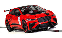 Scalextric Slot Car C4042 Jaguar I-Pace Red