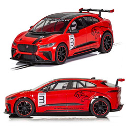 Scalextric Slot Car C4042 Jaguar I-Pace Red