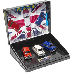 SCALEXTRIC Slot Car C4030A Mini Diamond Edition - Commemorative Triple Pack