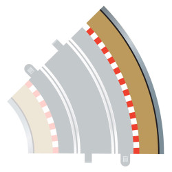 SCALEXTRIC C8228 4x Radius 2 Outer Borders & Barriers