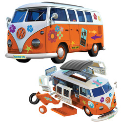 AIRFIX J6032 QUICKBUILD VW Camper Surfin' Car Model Kit