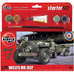 AIRFIX A55117 Starter Set Jeep MB 1:72 Car Model Kit