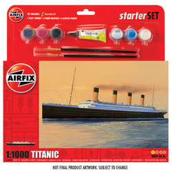 AIRFIX A55314 Large Starter Set - RMS Titanic 1:1000 Ship Model Kit