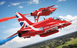 AIRFIX A55202C Red Arrows Hawk Starter Set 1:72 Aircraft Model Kit