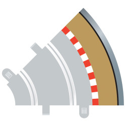 SCALEXTRIC C8240 4x Radius 1 Outer Borders & Barriers