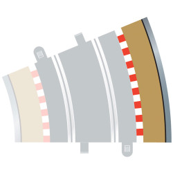SCALEXTRIC C8224 4x Radius 3 Outer Borders & Barriers
