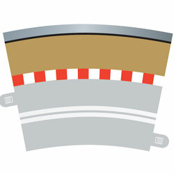 SCALEXTRIC C7019 Outer Borders & Barriers For Radius 3 Single Lane Curves