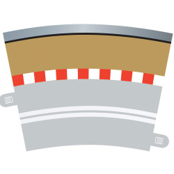SCALEXTRIC C7019 Outer Borders For Single Lane Curves