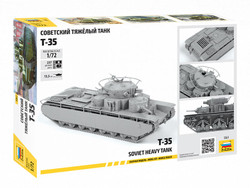 ZVEZDA 5061 Soviet Heavy Tank T-35 1:72 Tank Model Kit