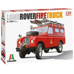 ITALERI 3660 Land Rover Fire Truck 1:24 Car Model Kit