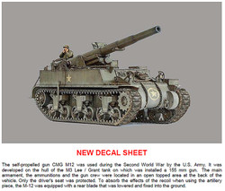 ITALERI 7076 M-12 GMC Self-Propelled Gun 1:72 Military Model Kit