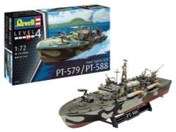 REVELL Patrol Torpedo Boat PT-588/PT-57 1:72 Ship Model Kit 05165