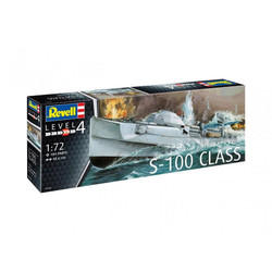 REVELL German Fast Attack Craft S-100 1:72 Boat Model Kit 05162