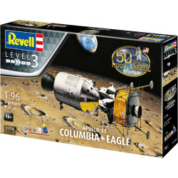 REVELL Gift Set Apollo 11 Columbia + Eagle 1:96 Space Model Kit 03700