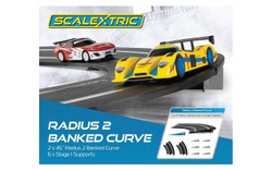 SCALEXTRIC Sport Track C8296 2x Radius 2 Banked Curves & Supports