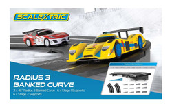 SCALEXTRIC Sport Track C8297 2x Radius 3 Banked Curves & Supports