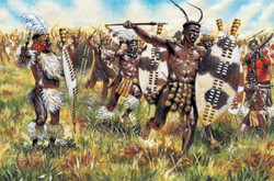 ITALERI Zulu Wars - Zulu Warriors 6051 1:72 Figures Model Kit