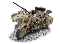 ITALERI BMW R75 with Sidecar 7403 1:9 Bike Model Kit