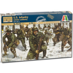 ITALERI WWII US Infantry (winter uniform) 6133 1:72 Model Kit