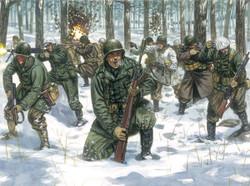 ITALERI WWII US Infantry (winter uniform) 6133 1:72 Model Kit