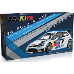BELKITS VW Polo R WRC Red Bull Car Model Kit 1:24 BEL005