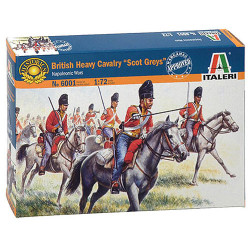 ITALERI British Heavy Cavalry 6001 1:72 Model Kit Figures