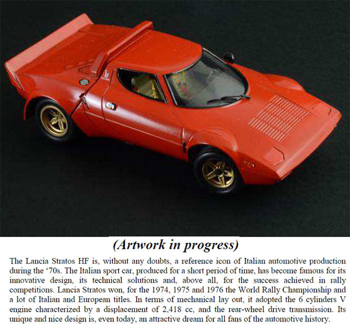 Italeri Lancia Stratos 3654 1 24 Car Model Kit