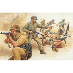 ITALERI German Afrika Corps WWII 6076 1:72 Model Kit Figures