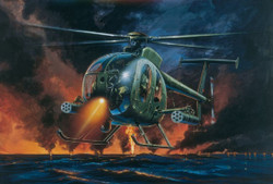 ITALERI AH-6 Night Fox Helicopter 017 1:72 Aircraft Model Kit
