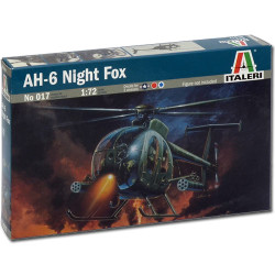 ITALERI AH-6 Night Fox Helicopter 017 1:72 Aircraft Model Kit