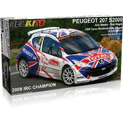 BELKITS Peugeot 207 S2000 Rally Car Model Kit 1:24 BEL001