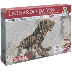 ITALERI Leonardo Da Vinci 3102 Mechanical Lion - Marvellous Machines Model Kit