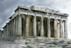 ITALERI The Parthenon World Famous Monuments 68001 Model Kit