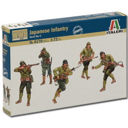 ITALERI WW11 Japanase Infantry 6170 1:72 Model Kit Figures