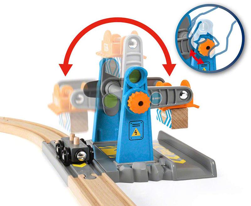 Brio 33827 Smart Tech Harbour Crane For Wooden Train Set