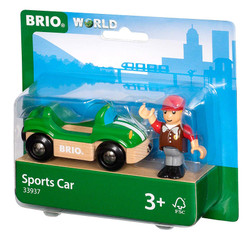 BRIO 33937 Sports Car for Wooden Train Set