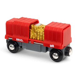 BRIO 33938 Cargo Wagon with Gold Load for Wooden Train Set