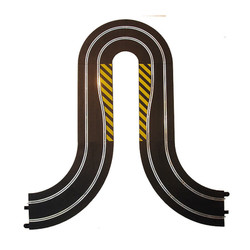 SCALEXTRIC BUNDLE C8201 C8246 C8206 Hairpin Curve Sides Wipes