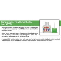 TAMIYA 87038 Extra Thin Cement 40ml