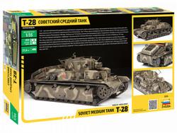 ZVEZDA T-28 Medium Tank 3694 1:35 Tank Model Kit