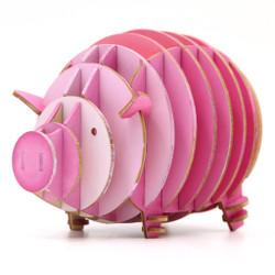 JIGZLE 3D Plywood Puzzle - Piggy Coinbank