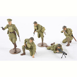 TAMIYA 35339 WWI British Infantry Set x 5 figs 1:35 Military Model Kit Figures