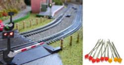 Train Tech LED Pack - Level Crossing (3 Extra Sets) N/HO/OO Gauge TTLED1