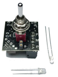 Train Tech Mimic with Toggle Switch/Plug in LEDs N/HO/OO Gauge TTMS1