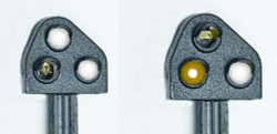 Train Tech Ground Position Signal Kit - Original Yellow HO/OO Gauge TTGK4
