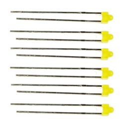 Train Tech LED Pack - 3mm Yellow (6) N/HO/OO Gauge TTLED17