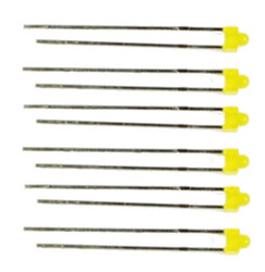 Train Tech LED Pack - 3mm Yellow (6) N/HO/OO Gauge TTLED17