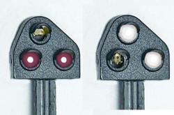 Train Tech Ground Position Signal Kit - Modern Red HO/OO Gauge TTGK1