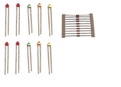 Train Tech LED Pack - Assorted Colour Subminiatures (10) N/HO/OO Gauge TTLED10